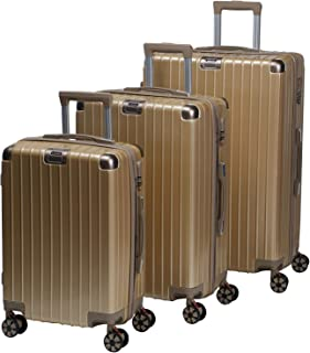 Chalish Luggage Trolley Bags for unisex 3pcs, Brown