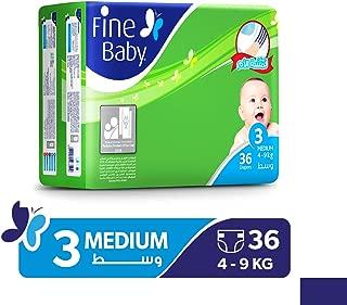 Fine Baby Super Dry - Smart Lock, Medium 4-9 Kgs, Economy Pack, 36 Count