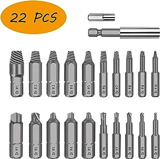 Bainuojia 22PCS Extractor de Tornillos, Brazo Extensor para Broca Magnetizado y Adaptador para Tornillos y Pernos Dañados Desde 2mm hasta 12mm