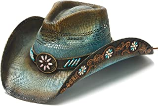 Women's Come Upon Beaded Flower Western Hat
