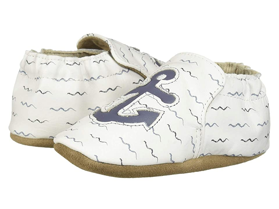 Robeez On Board Soft Sole (Infant/Toddler) (White) Boy