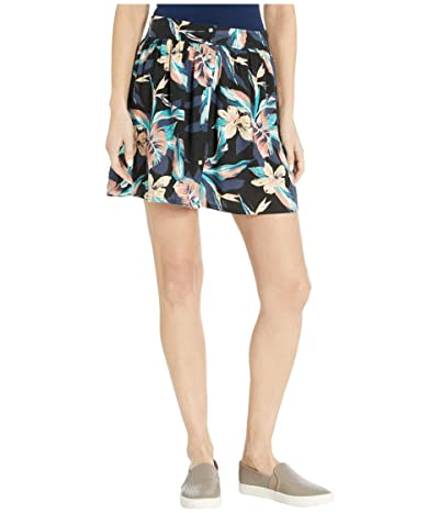 Roxy Shallow End Buttoned Skirt (Anthracite Tropicoco) Women