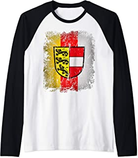 Carinthia T-Shirt with Coat of Arms and Flag Retro Kaernten Raglan Baseball Tee