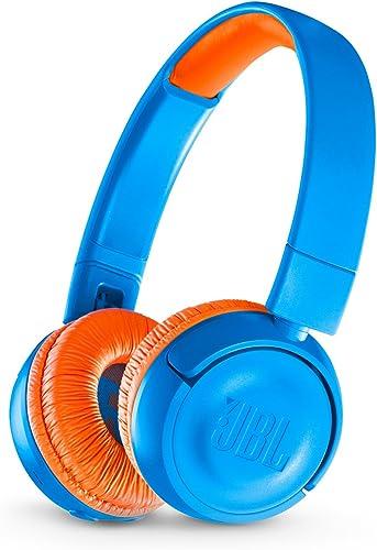 high quality JBL discount JR 300BT high quality On-Ear Wireless Bluetooth Headphones - Blue / Orange outlet online sale