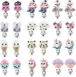 Toddler Unicorn Earrings for Girls, Cute Colorful Festival Gift Kid's Lovely Earrings,Girls Clip On Earrings Jewelry