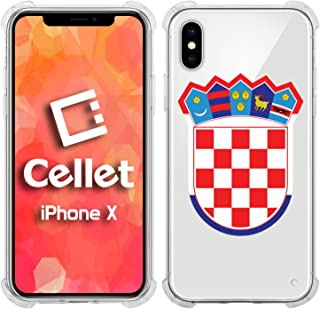 Cellet TPU / PC Proguard Case with Croatia Flag (2) for Apple iPhone X