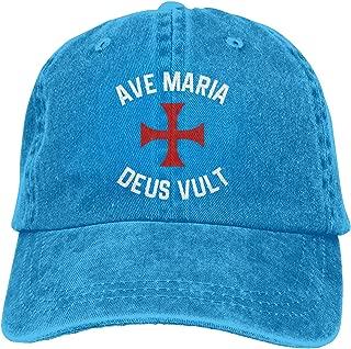 Ave Maria Deus Vult Adjustable Dad Hat Baseball Cap Denim Hat