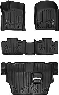 MAXLINER Floor Mats 3 Row Liner Set Black for 2016-2018 Dodge Durango with 2nd Row Bench Seat