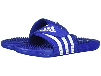 adidas Kids Adissage (Toddler/Little Kid/Big Kid) (Team Royal Blue/White) Kid