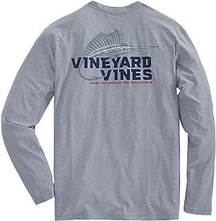 Vineyard Vines Mens Long Sleeve Performance Cationic Marlin Hook T-Shirt