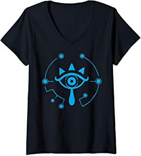 Womens Zelda Breath Of The Wild Sheikah Eye Logo V-Neck T-Shirt