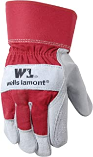 Heavy Duty Double Leather Palm Work Gloves with Safety Cuff, Extra Large (Wells Lamont 4050XL)