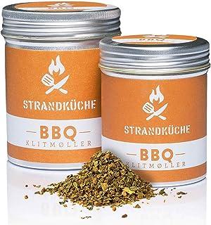 Strandküche Klitmøller Mezcla Especias BBQ 45 g I Adobo Picante BBQ I Condimentado con cilantro Majoran Muscat Paprika Ajo etc. I Mezcla para asados, Barbacoa adobo para carne y verduras