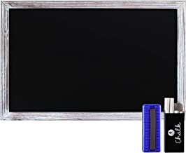 "Rustic Whitewashed Magnetic Wall Chalkboard, Small Size 11"" x 17"" (28cm x 43cm), Framed Decorative Chalkboard - Great for ..."