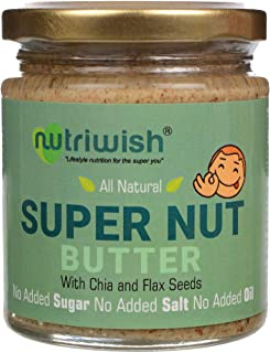 Nutriwish Supernut Butter Bottle 200 g Unsweetened No Added Oil No Added Sugar No Added Salt 100 Natural, 1 Count