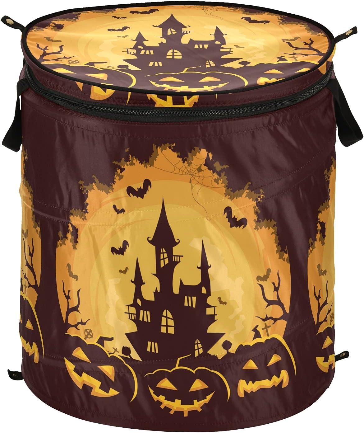 Happy Halloween Castle Pumpkin Pop Up with Cheap sale Classic Fo Lid Laundry Hamper