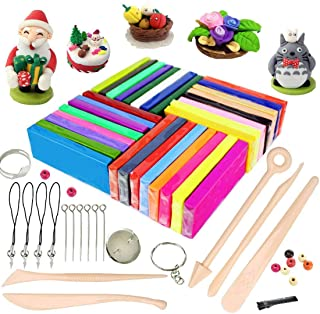 iFergoo Polymer Clay, 32 Colors Oven Bake Modelling Clay, DIY Colored Clay Kit with Modeling Tools, Tutorials and Accessories