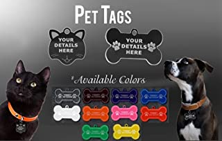 Vista Personalized Acrylic Pet tags - Pet Tags with Engraving Available in different colors