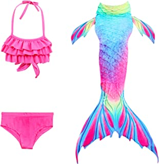 2018 Nuevo Sea-Criada Cosplay Swimwear Mermaid Shell Swimsuit 3pcs Bikini Sets