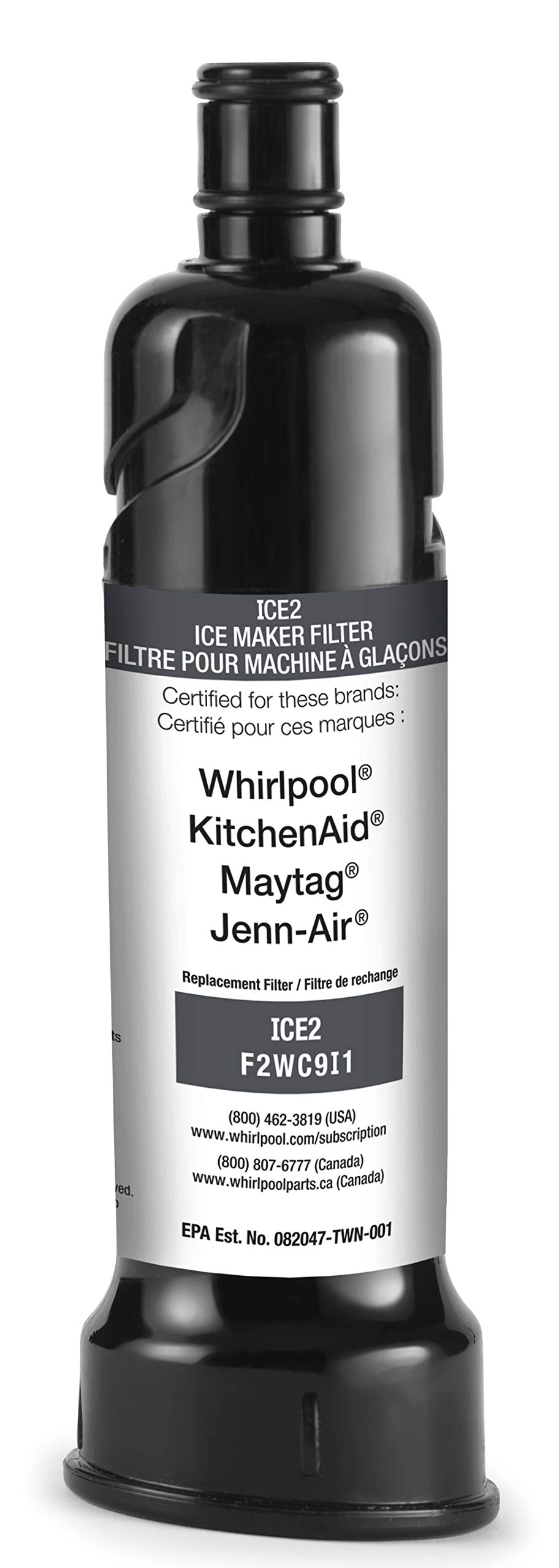 2-pack OEM Replacement for Ice Maker Water Filter Whirlpool F2WC9I1 ICE2 for 50 Pound Ice Machines