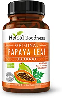 Papaya Leaf Extract - SuperFruit Natural Blood Platelet Boost, Bone Marrow Support, Immune Gut & Digestive Enzymes Health ...