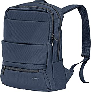 Promate Laptop Backpack, Slim Lightweight Dual Pocket Water Resistance Backpack with Multiple Compartment and Anti-Theft Pocket for 15.6 Inch Laptops, Tablets, Documents, Apollo-BP Blue