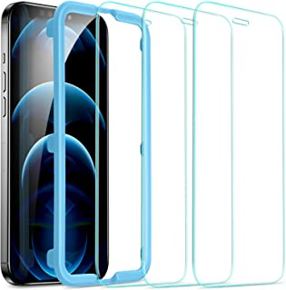 ESR Tempered-Glass for iPhone 12 Pro Max Screen Protector [3-Pack] [Easy Installation Frame] [Case-Friendly]