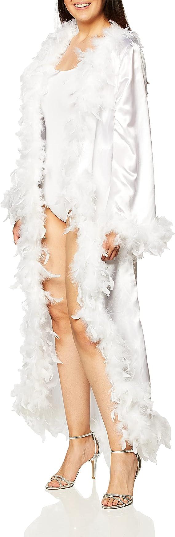 1930s Costumes- Bride of Frankenstein, Betty Boop, Olive Oyl, Bonnie & Clyde Forum Novelties Womens Vintage Hollywood Marabou Robe  AT vintagedancer.com