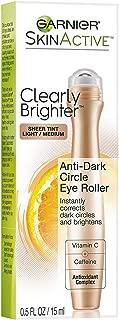 Garnier SkinActive Clearly Brighter Sheer Tinted Eye Roller, Light/Medium 0.5 oz (Pack of 3)