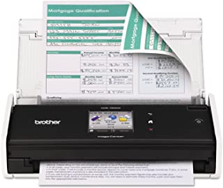 Brother ADS1500W ImageCenter ADS-1500W Wireless Compact Scanner, 600 x 600 dpi, 20 Sheet ADF