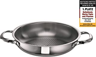 Schulte-Ufer Serving Pan Romana i, Frying Pan, Stainless Steel 18/10, 20 cm, 6951-20 i