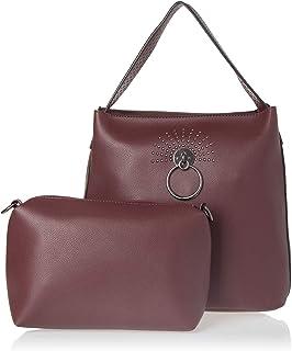 مجموعة حقائب اليد للنساء - عنابي