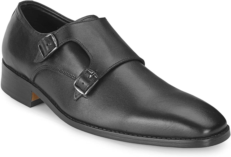 Teakträ herrar herrar herrar Real Genuine läder Slip -on Monk Strap Dress skor  erbjuder butik