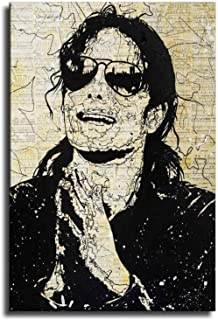 ALEC Monopoly Mickael Jackson Canvas Art Poster and Wall Art Picture Print Modern Family Bedroom Decor Posters