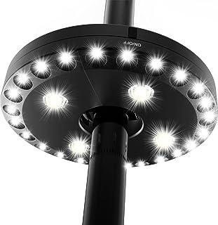 QPAU Patio Umbrella Light Outdoor Cantilever 3 Lighting Mode Offset Pool Patio Cordless..