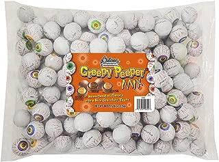 R.M. Palmer Creepy Peeper Mix - (Approx. 185 Pieces) Bulk Bag, Fun Sized Halloween Eyeballs Themed Treats, Candy, and Snacks (5 LB)