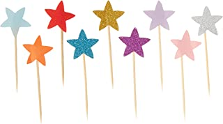 yasheng 50Toppers Star Cupcake Toppers, 50 pcs, Mix-Color