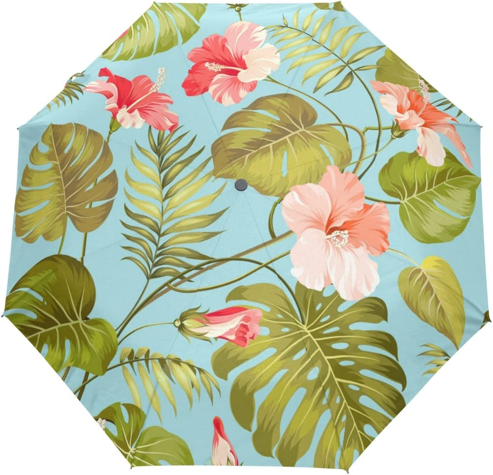SUABO Windproof Automatic Travel Umbrella Ranking TOP3 Flower Dallas Mall Tropical with P