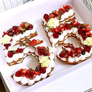 Moules à gâteau en forme de chiffres de 0 à 8 - 25,4 cm - Pour décoration de gâteau - Pour mariage, anniversaire, annivers...