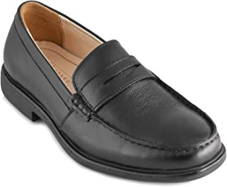 tZaro Light Weight Genuine Leather Formal Shoes MR Slipon,DERBLK2511MC
