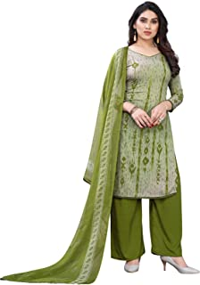 TreegoArt Fashion Women's Crepe Printed Unstitched Salwar Suit/Dress Material With Dupatta For Women's & Girl's -(Free Siz...
