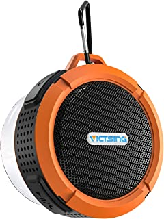 VicTsing Shower Speaker, Wireless Waterproof Speaker 5W Driver, Suction Cup, Built-in Mic, Hands-Free Speakerphone - Orange