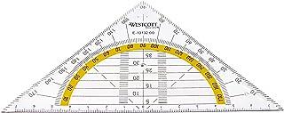 Westcott Geodriehoek kunststof onbreekbaar transparant Single 14 cm (1 Stuk)