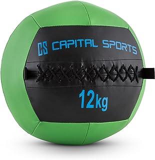 comprar comparacion CapitalSports Wallba 12 Balón Medicinal de Cuero sintético (Peso 12 kg, Forro Exterior, Costuras resistententes, Superfici...