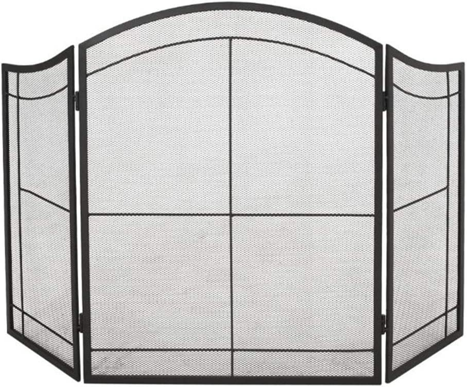 Max 67% OFF ERRU Fold Fireplace Screen Import for Hearth Open Sp Iron Fire Wrought