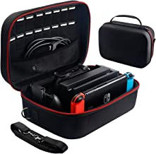 Carrying Storage Case for Nintendo Switch,Protective Travel Hard Shell Messenger Bag for Switch Console, Pro Controller, A...