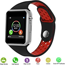 Smart Watches,IOQSOF Touchscreen Bluetooth Smart Watch with Camera,Android Smartwatch,Waterproof Smart Watches