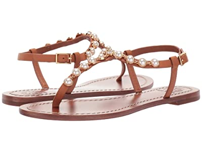 Tory Burch Emmy Pearl Sandal (Tan) Women