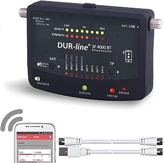 Bluetooth Easy SatFinder - DUR-line SF 4000 BT - met 8 vooraf ingestelde satellieten incl. smartphone-app voor andere prof...