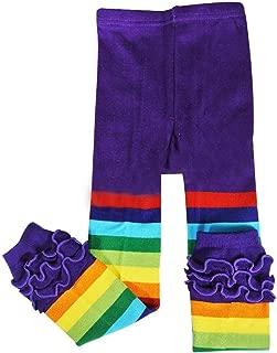 Wrapables Rainbow Ruffle Toddler Leggings - Purple 105cm